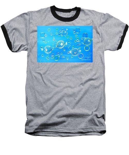 Pufferfish Playtime Baseball T-Shirt