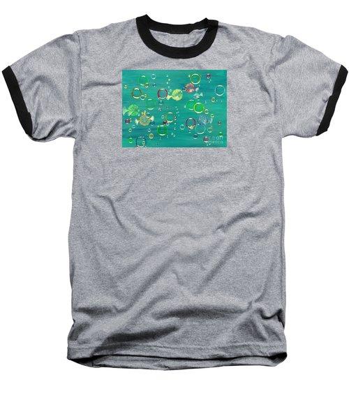 Pufferfish Rainbow Baseball T-Shirt