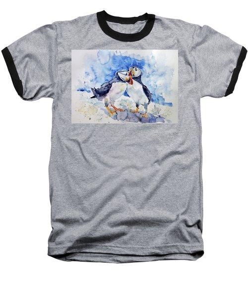 Puffins Baseball T-Shirt by Kovacs Anna Brigitta