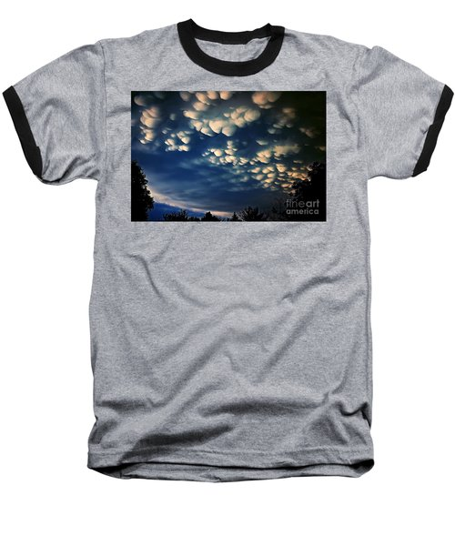 Puffy Storm Clouds Baseball T-Shirt