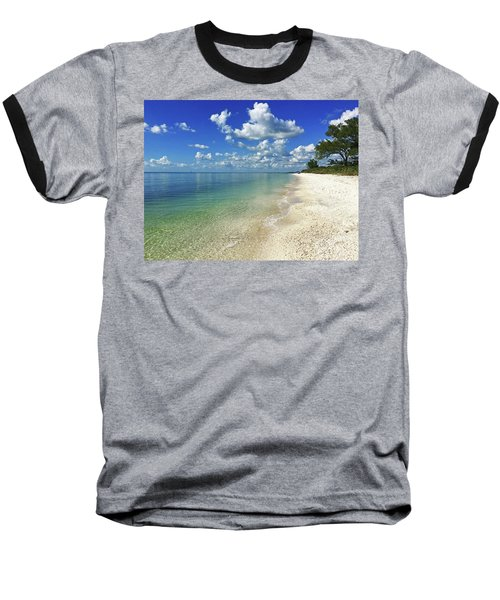 Puffy White Clouds At Delnor-wiggins Baseball T-Shirt