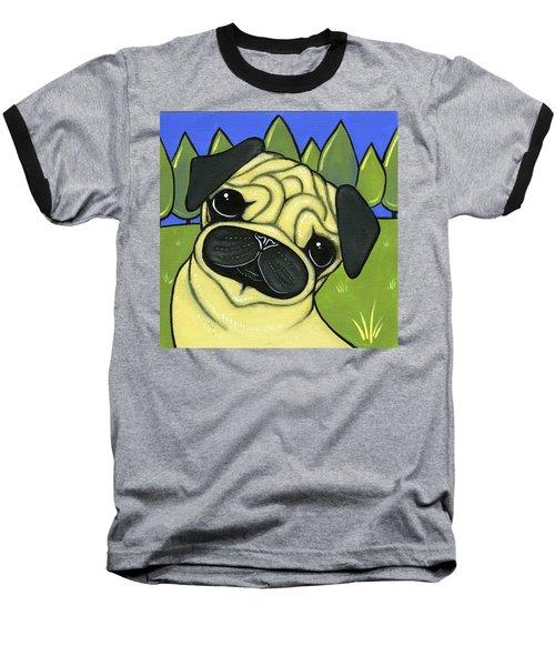 Pug Baseball T-Shirt by Leanne Wilkes