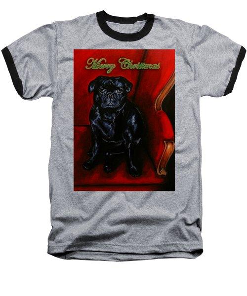 Puggsley Christmas Baseball T-Shirt