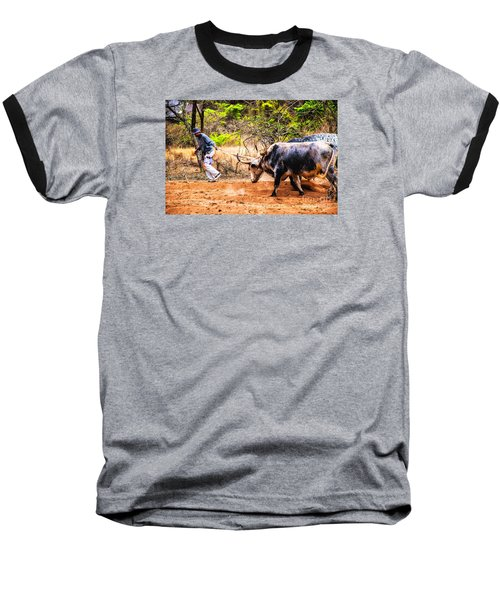 Baseball T-Shirt featuring the photograph Pulling The Beasts by Rick Bragan