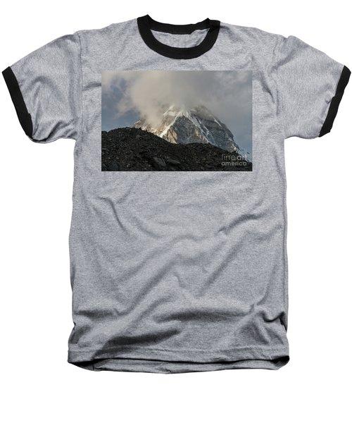 Baseball T-Shirt featuring the photograph Pumori Dusk Light by Mike Reid