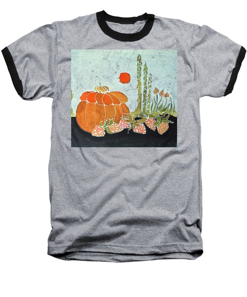 Pumpkin And Asparagus Baseball T-Shirt