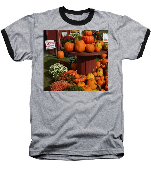 Pumpkin Display Baseball T-Shirt