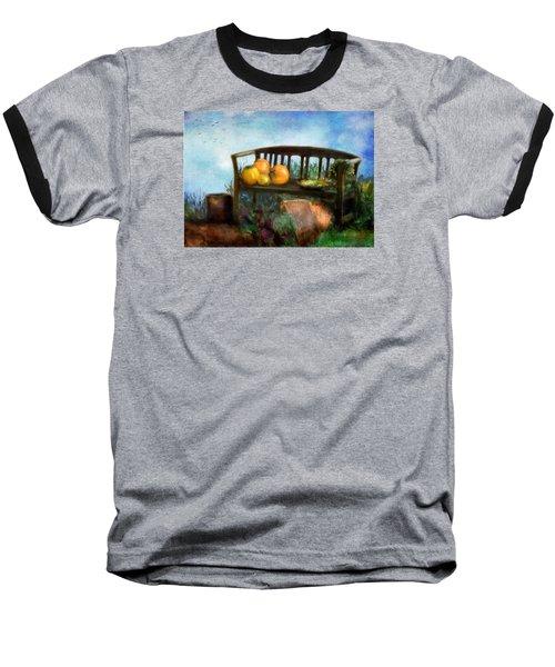 Pumpkin Harvest Respite Baseball T-Shirt
