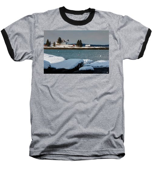 Pumpkin Island Lighthouse Baseball T-Shirt