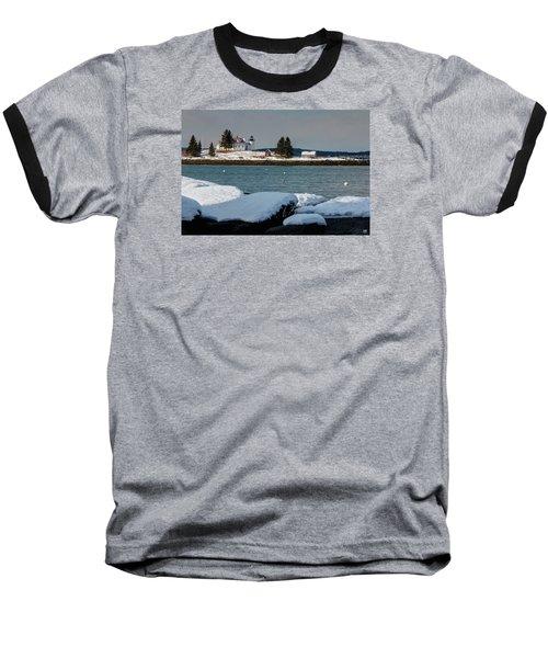 Pumpkin Island Lighthouse Baseball T-Shirt