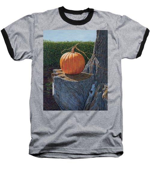 Pumpkin On A Dead Willow Baseball T-Shirt