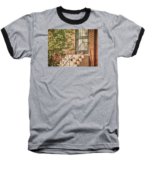 Pumpkin Portico Baseball T-Shirt by JAMART Photography