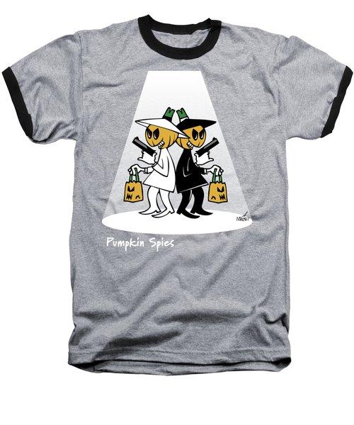 Pumpkin Spies Baseball T-Shirt