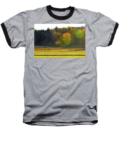 Pumpkin Sunset Baseball T-Shirt