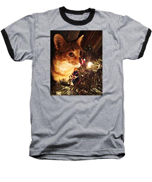 Pumpkin's First Christmas Tree Baseball T-Shirt