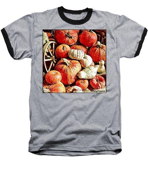 Pumpkins In The Barn Baseball T-Shirt