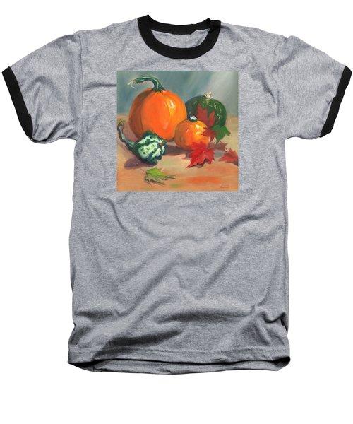 Pumpkins Baseball T-Shirt by Susan Thomas