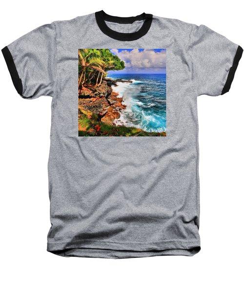 Baseball T-Shirt featuring the photograph Puna Coast Hawaii by DJ Florek