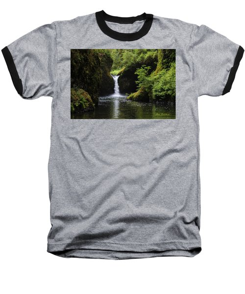 Punchbowl Falls Signed Baseball T-Shirt