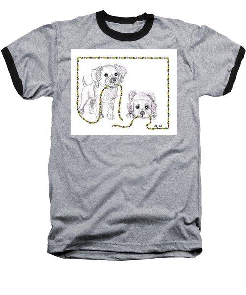 Puppies Greeting Card Baseball T-Shirt