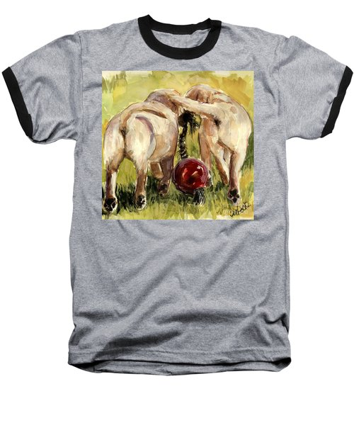 Puppy Butts Baseball T-Shirt by Molly Poole