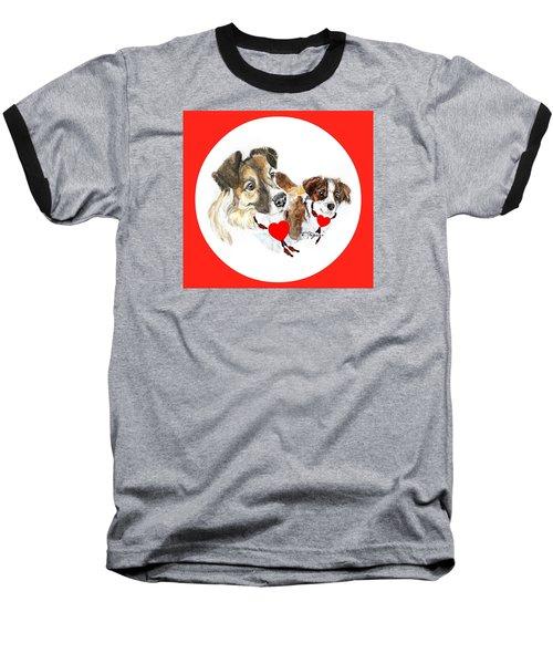 Puppy Christmas Baseball T-Shirt