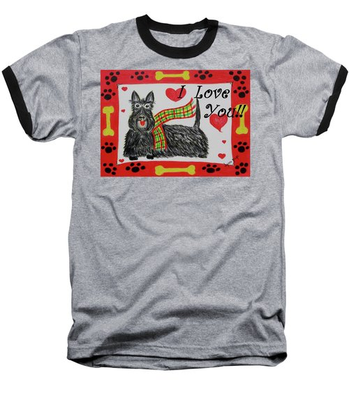 Puppy Love Baseball T-Shirt by Diane Pape