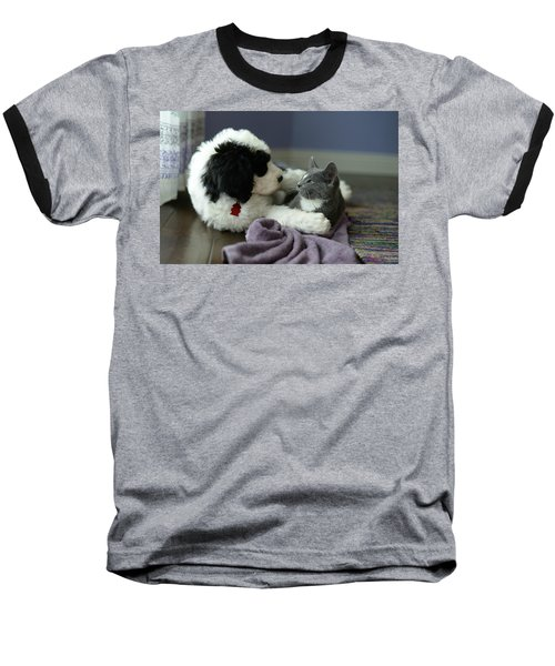 Baseball T-Shirt featuring the photograph Puppy Love by Linda Mishler