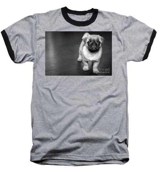 Puppy - Monochrome 2 Baseball T-Shirt