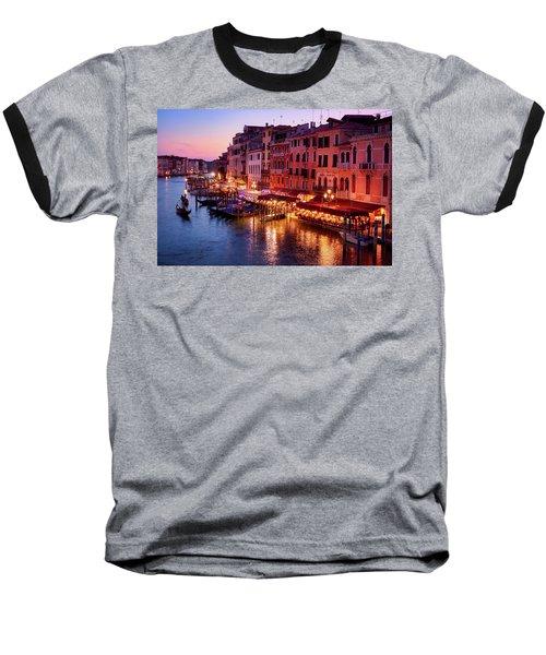 Cityscape From The Rialto In Venice, Italy Baseball T-Shirt