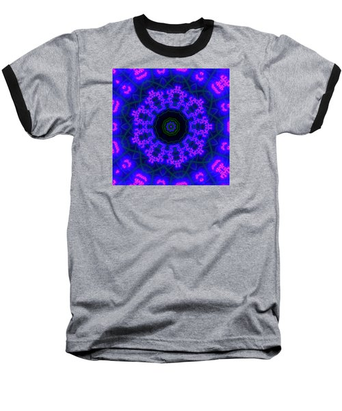Purple 9 Lightmandala Baseball T-Shirt by Robert Thalmeier