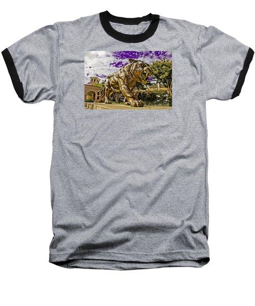 Purple And Gold Baseball T-Shirt by Scott Pellegrin