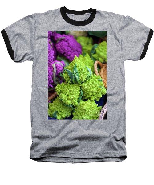 Purple And Romanesco Cauliflower Baseball T-Shirt
