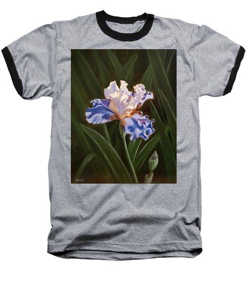 Purple And White Iris Baseball T-Shirt