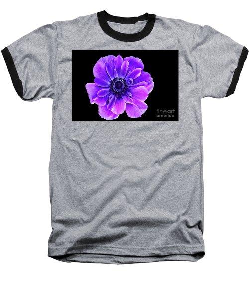 Purple Anemone Flower Baseball T-Shirt