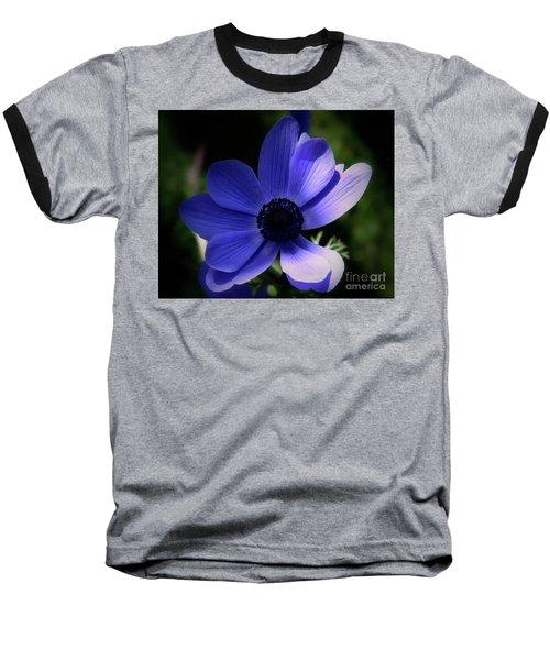 Purple Anemone Baseball T-Shirt