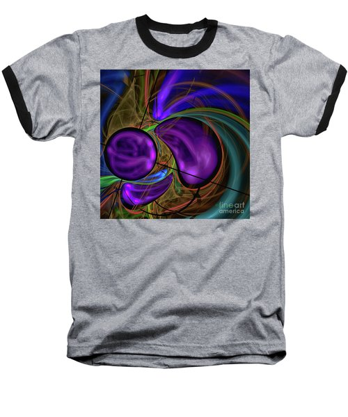 Baseball T-Shirt featuring the digital art Purple Anyone by Deborah Benoit