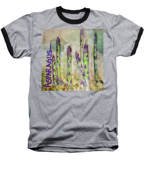 Baseball T-Shirt featuring the painting Purple Asparagus by Kim Nelson