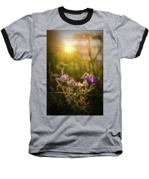 Purple Aster Glow Baseball T-Shirt