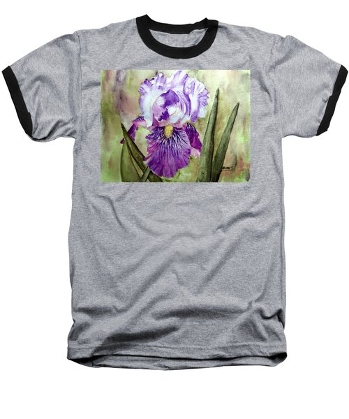 Purple Beauty Baseball T-Shirt by Carol Grimes