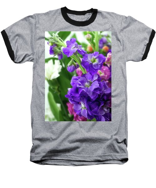 Purple Bouquet Baseball T-Shirt