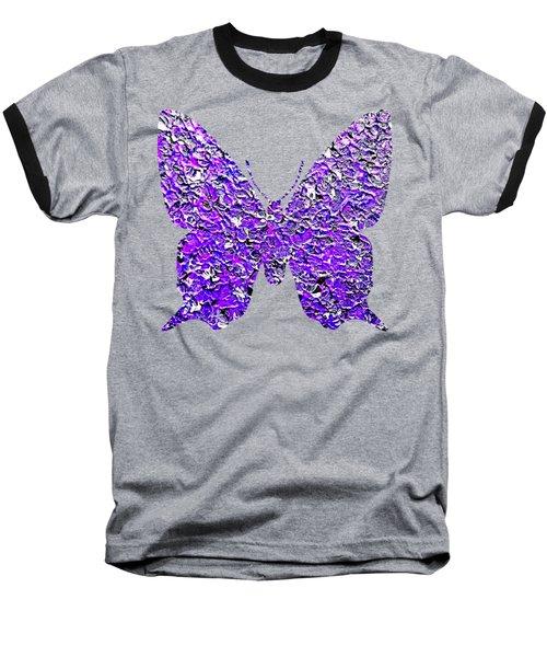 Purple Butterfly  Baseball T-Shirt