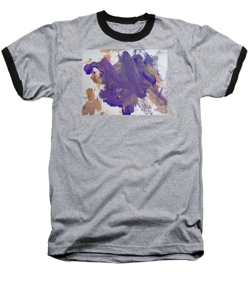 Baseball T-Shirt featuring the painting Purple By Emma by Fred Wilson
