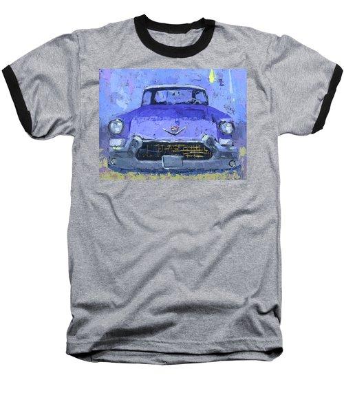 Purple Cadillac Baseball T-Shirt