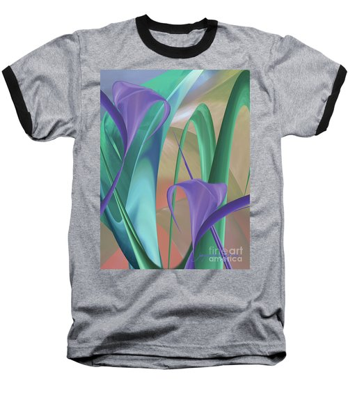 Purple Calla Lilies Baseball T-Shirt