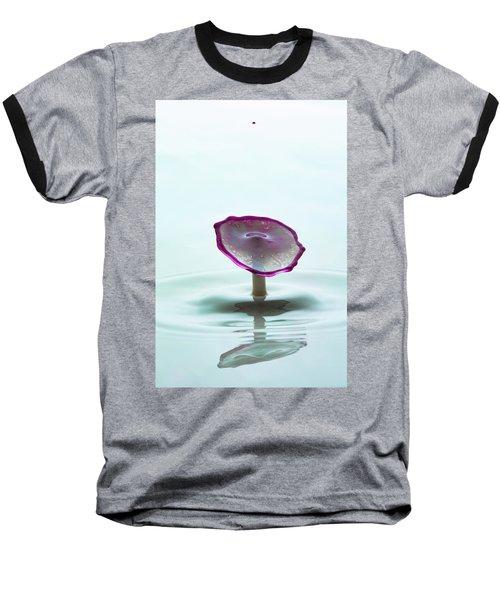Purple Capped Drop Baseball T-Shirt