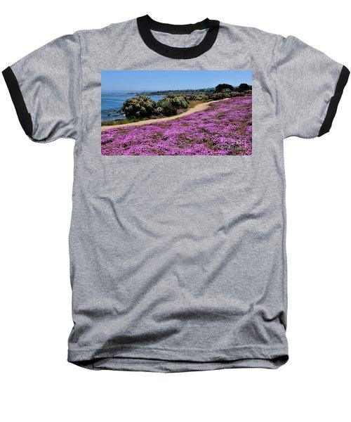 Purple Carpet Baseball T-Shirt by Gina Savage