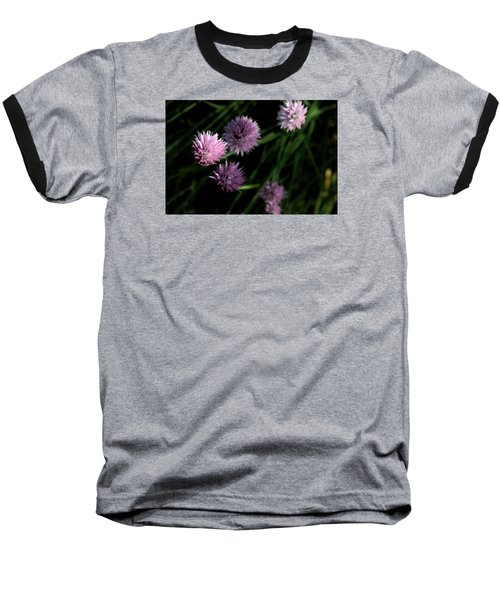 Baseball T-Shirt featuring the photograph Purple Chives by Angela Rath