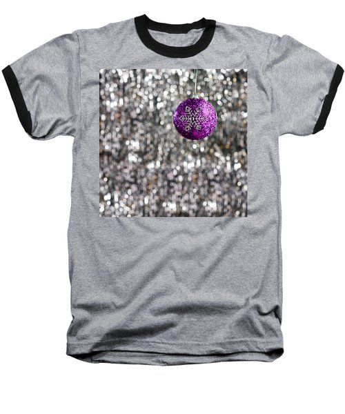 Baseball T-Shirt featuring the photograph Purple Christmas Bauble  by Ulrich Schade