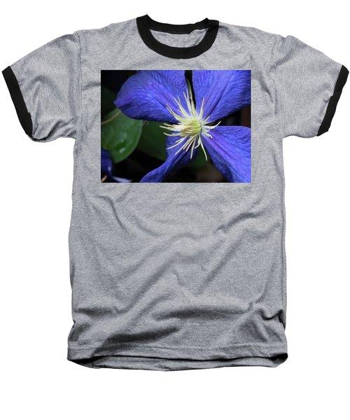 Purple Clematis Baseball T-Shirt